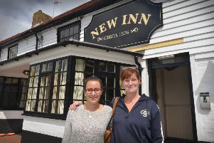 New Inn reopens in Sidley.''Manager Kim Lewis (right) and Rachel Dixon. SUS-190708-125924001