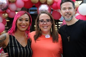 Kristal Coppin, salon owner Danielle and Ben Coppin