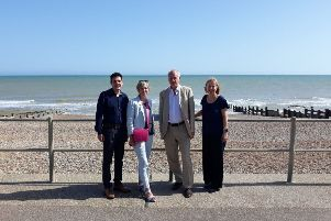 Huw Merriman MP, Lilian Greenwood MP, Daniel Zeichner MP and Ruth Cadbury MP visited Bexhill in July SUS-190628-134307001