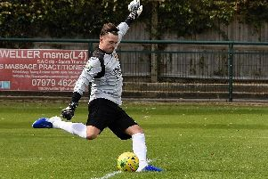 Bridges' goalkeeper Kieron Thorp. Picture by Scott Laver