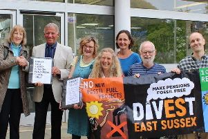 Divest East Sussex's petition handed in at County Hall