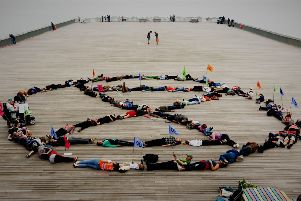 Extinction Rebellion held three 'die-ins' in Hastings back in May this year. Picture: Shendao Silent Films SUS-190520-172458001