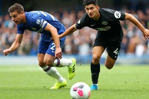 Brighton and Hove Albion midfielder Steven Alzate has impressed in the Premier League this season and is in contention for a starting role against Everton