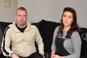 Jason and Kirsty Wild pictured in their home in Asten Fields, Battle. SUS-190411-140844001