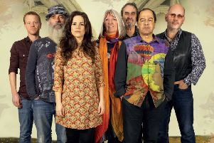 Julian Littman (second from right) with Steeleye Span. Picture by Peter Silver