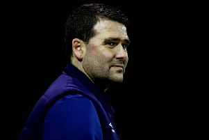 Linfield boss David Healy pictured at Oriel Park