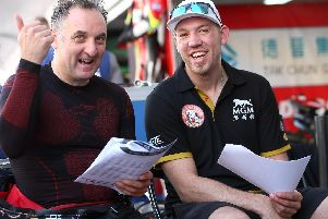 Michael Rutter was declared the winner of the 53rd Suncity Group Macau Motorcycle Grand Prix from his MGM by Bathams Racing team-mate Peter Hickman.