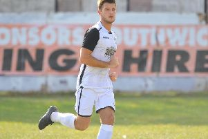 Jamie Bunn was instrumental in the win and provided the assist for Craig McFarlane's goal. Picture by Steve Robards