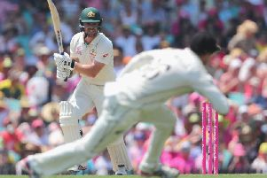 Travis Head strikes out for Australia in the third Test against New Zealand / Picture: Getty