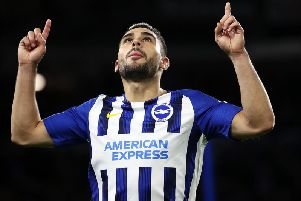 Brighton and Hove Albion striker Neal Maupay has impressed in his first season in the Premier League
