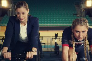 Laura Kenny in the Purple Bricks adverts