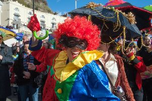 Colourful scenes at the Umbrella Parade from 2018. Photo by Frank Copper