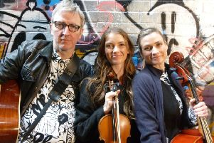 From left: James Traherne, Sonya Cullingford and Augustina Seymour. Photo by Lawrence Smith