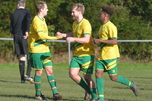 Westfield celebnrate their first goal