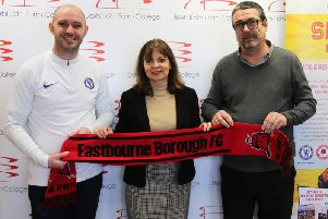 Bexhill College have struck up a partnership with Eastbourne Borough. Picture courtesy of John Bonar
