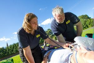 Katie Best and Richard Brown, Level 3 Community First Responders with LIVES. EMN-190124-174925001