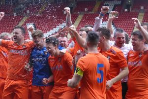 Battle Baptists celebrate after winning the National Christian Cup. Picture by Simon Newstead