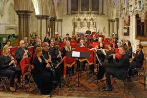Southdowns Concert Band has around 40 excellent musicians from across Sussex and Hampshire. Picture: Keith Tellick