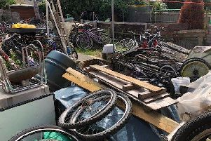 Debbie Rowley hoarded these bikes in her garden.
