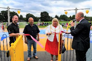 The opening of Dunstable Splash Park in 2017. Credit: John Chatterley.