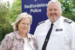 Police and crime commissioner Kathryn Holloway with Chief Constable Garry Forsyth