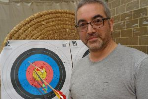 Matt Cheshire won gold at the Kestrels Archery Club Portsmouth Tournament.