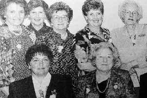 Picture from the past: some of the founder members at the pearl anniversary celebrations