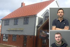 The Market Cross pub in Dunstable; inset Shah (top) and Urbanowicz (below)
