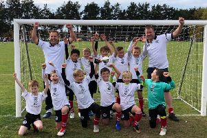 The victorious Chichester City U10s Adur Cup winning team. Pictured back from left, Steve Nurse (manager) Noah Goldsmith, Alfie Sloper, Barnaby Clifford-Brown, Teddie Stairs, Jamie Heard, Dodge Horne (assistant manager); front, Liam Horne, Kieran OFlinn, Freddie Hunt, Caleb Lock, Ryan Nurse, Callum Minay.