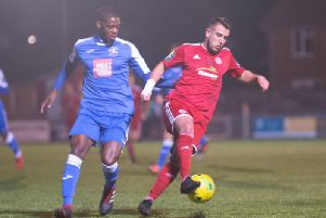 Reece Meekums on the ball. Picture by Marcus Hoare