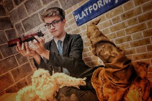Finlay Kennington-Dawe (14), who is helping build a Harry Potter model railway at Long Field Academy in Melton EMN-181219-121710001