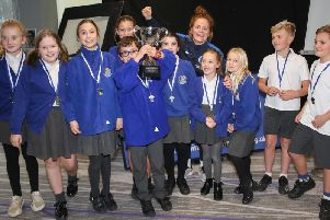The winning team from Cottesmore St Mary Catholic Primary School in Hove