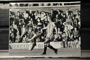 Ian Ross in action for Posh.