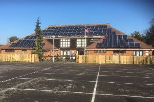 87 solar panels have recently been installed at Pagham Village Hall. Picture courtesy of Pagham Village Hall Trust SUS-191202-140948001