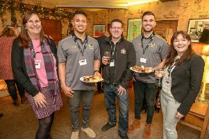 From left, Alison Shaw (BID Leamington), Marcus Watson (Wasps), Michael Price (Prices Spices), Craig Hampson (Wasps), Stephanie Kerr (BID Leamington)