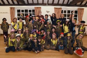 The 2nd Southwick Brownies performed playlets and learned how to project their voices, working with president Gary Cook and committee member Charley Roberts