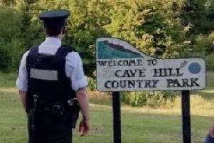Police responded to reports of disorder at the Cave Hill Country Park.