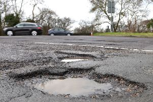 Across Britain, 717 miles of council-run A-Roads were deemed in need of maintenance. Picture: PA.