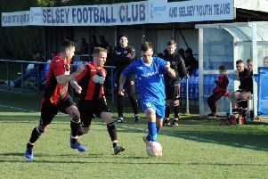 Selsey get it forward against Varndeanians / Picture by Kate Shemilt