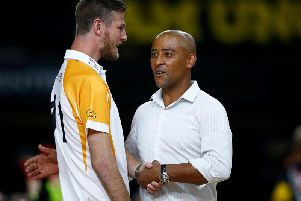 Former Saints star Rob Horne with George Gregan at the Invictus Games in Sydney