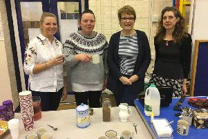 The launch of Caythorpe Primary School PTA's monthly coffee morning for the community. Images supplied.