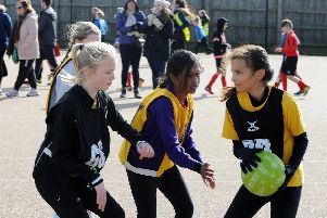 Bishop Tufnell v Southway netball action / Picture by Kate Shemilt