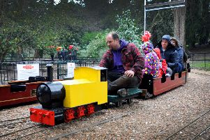 Re-opening of Hastings Miniature Railway in Alexandra Park, 13/2/16. SUS-160214-165153001