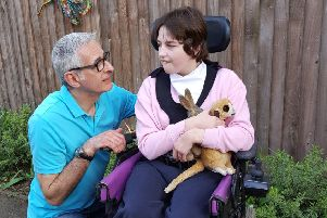 Stefan and Kirstine Draxler - they have prompted a judicial review to be held into planned changes to Leicestershire County Council's school transport policy for vulnerable pupils EMN-190104-163450001