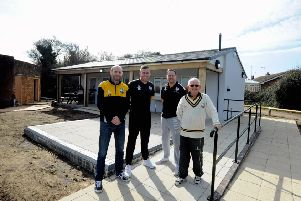 Members of Aldwick cricket club delighted with their new pavilion. From left Ollie Smith, Ian Guppy, Ian Smith, and chairman Jim Smiith.ks190135-2