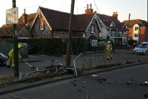 Emergency services at the scene. Photo: Chichester Police/Twitter