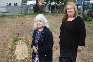 Rustington historian Mary Taylor, left, approached Sue Sula, right, to do something about the graveyard. Photo by Derek Martin