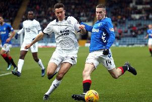 Rangers' Ryan Kent. Pic by PA.