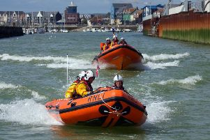 Both Littlehampton lifeboats attended the incident. Picture: RNLI