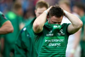 A disappointed Caolin Blade after Connacht lose to Ulster in the Guinness PRO14 semi-final qualifier